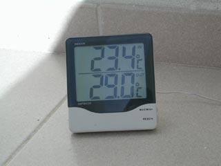 Thermomètre: 23.4 et 29.0 °C