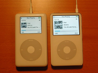 iPod photo and iPod video