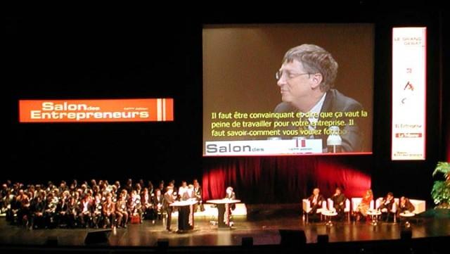 Bill Gates et Luc Besson au Salon des Entrepreneurs