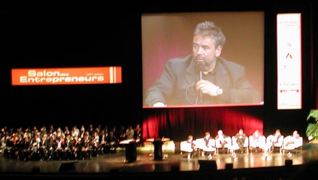 Bill Gates et Luc Besson au Salon des Entrepreneurs